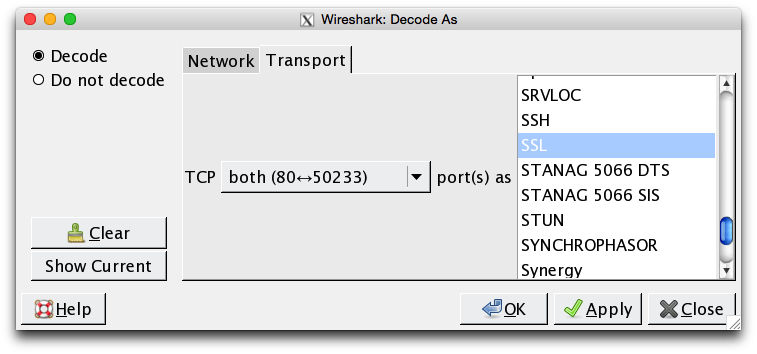 Wireshark Decode